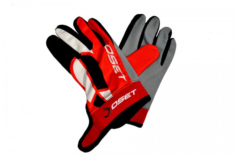 OSET branded Pro 2 Riding Gloves in Red